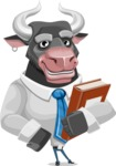 Bull Cartoon Character Dressed with Business Clothes AKA Will Horns - Book 3