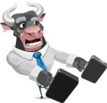 Bull Cartoon Character Dressed with Business Clothes AKA Will Horns - Briefcase 3