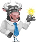 Bull Cartoon Character Dressed with Business Clothes AKA Will Horns - Idea 1
