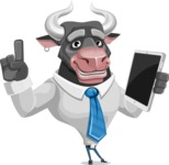 Bull Cartoon Character Dressed with Business Clothes AKA Will Horns - iPad 3