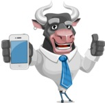Bull Cartoon Character Dressed with Business Clothes AKA Will Horns - iPhone