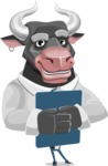 Bull Cartoon Character Dressed with Business Clothes AKA Will Horns - Notepad 2