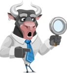Bull Cartoon Character Dressed with Business Clothes AKA Will Horns - Search