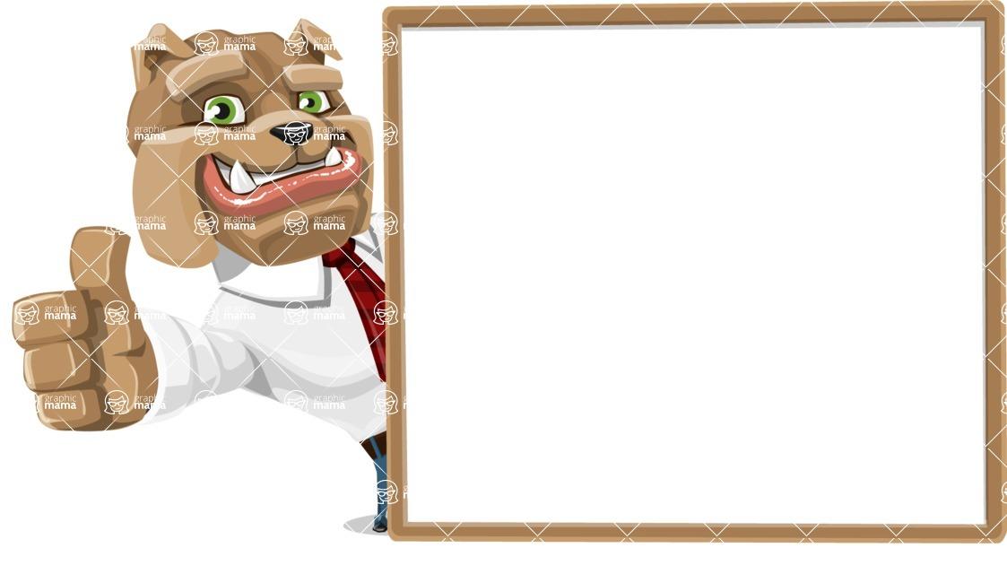 Bulldog Businessman Cartoon Vector Character AKA Bruce Bulldogge - Presentation 5