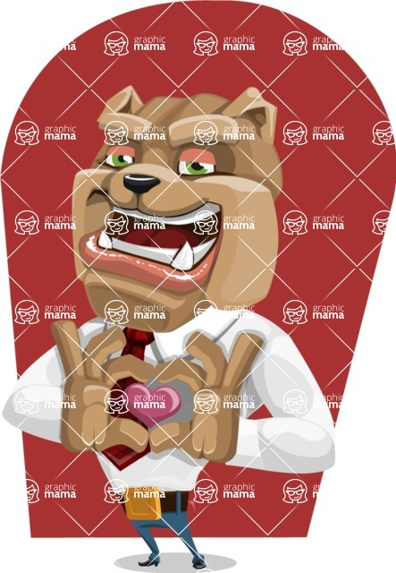 Bulldog Businessman Cartoon Vector Character AKA Bruce Bulldogge - Shape 10