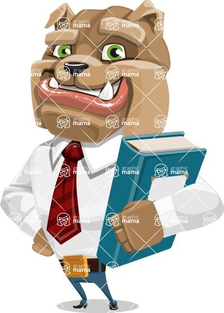 Bulldog Businessman Cartoon Vector Character AKA Bruce Bulldogge - Book 3