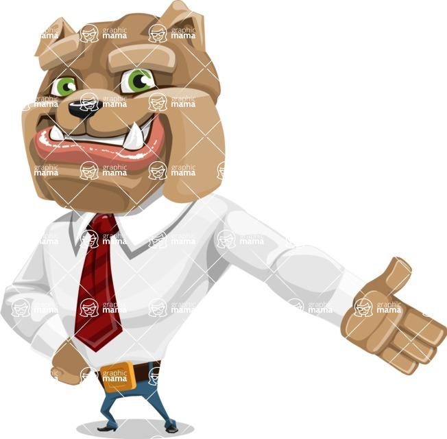 Bulldog Businessman Cartoon Vector Character AKA Bruce Bulldogge - Show