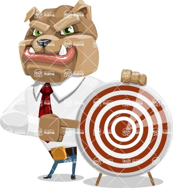 Bulldog Businessman Cartoon Vector Character AKA Bruce Bulldogge - Target