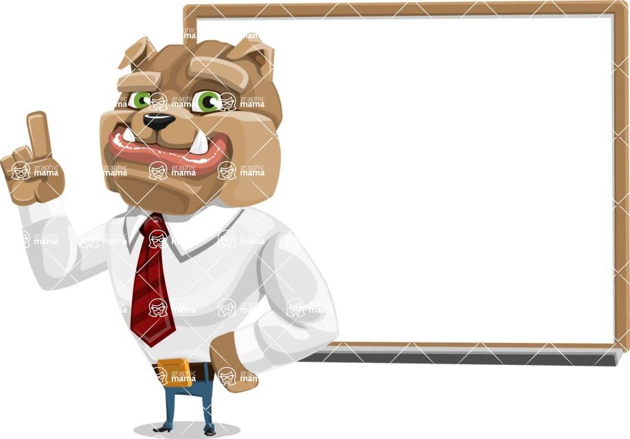 Bulldog Businessman Cartoon Vector Character AKA Bruce Bulldogge - Presentation 3