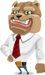 Bulldog Businessman Cartoon Vector Character AKA Bruce Bulldogge - Normal