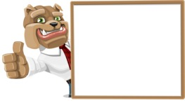 Bulldog Businessman Cartoon Vector Character AKA Bruce Bulldogge - Presentation 5