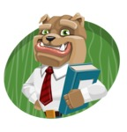 Bulldog Businessman Cartoon Vector Character AKA Bruce Bulldogge - Shape 4
