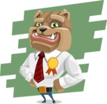 Bulldog Businessman Cartoon Vector Character AKA Bruce Bulldogge - Shape 9