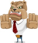 Bulldog Businessman Cartoon Vector Character AKA Bruce Bulldogge - Stop 2