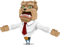Bulldog Businessman Cartoon Vector Character AKA Bruce Bulldogge - Stunned