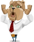 Bulldog Businessman Cartoon Vector Character AKA Bruce Bulldogge - Shocked