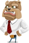 Bulldog Businessman Cartoon Vector Character AKA Bruce Bulldogge - Roll Eyes