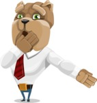 Bulldog Businessman Cartoon Vector Character AKA Bruce Bulldogge - Oops