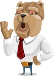 Bulldog Businessman Cartoon Vector Character AKA Bruce Bulldogge - Bored 2