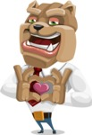 Bulldog Businessman Cartoon Vector Character AKA Bruce Bulldogge - Show Love