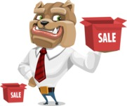 Bulldog Businessman Cartoon Vector Character AKA Bruce Bulldogge - Sale