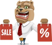 Bulldog Businessman Cartoon Vector Character AKA Bruce Bulldogge - Sale 2