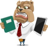 Bulldog Businessman Cartoon Vector Character AKA Bruce Bulldogge - Book and iPad