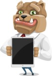 Bulldog Businessman Cartoon Vector Character AKA Bruce Bulldogge - iPad 1