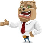 Bulldog Businessman Cartoon Vector Character AKA Bruce Bulldogge - Showcase 2