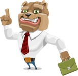 Bulldog Businessman Cartoon Vector Character AKA Bruce Bulldogge - Briefcase 2