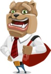 Bulldog Businessman Cartoon Vector Character AKA Bruce Bulldogge - Travel 2