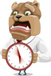 Bulldog Businessman Cartoon Vector Character AKA Bruce Bulldogge - Time is Yours