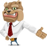 Bulldog Businessman Cartoon Vector Character AKA Bruce Bulldogge - Show