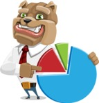 Bulldog Businessman Cartoon Vector Character AKA Bruce Bulldogge - Chart