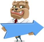 Bulldog Businessman Cartoon Vector Character AKA Bruce Bulldogge - Pointer 2