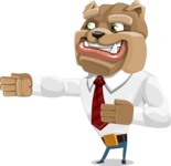 Bulldog Businessman Cartoon Vector Character AKA Bruce Bulldogge - Show 2