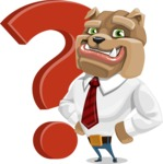 Bulldog Businessman Cartoon Vector Character AKA Bruce Bulldogge - Question