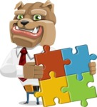 Bulldog Businessman Cartoon Vector Character AKA Bruce Bulldogge - Puzzle