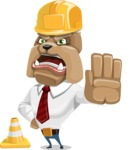 Bulldog Businessman Cartoon Vector Character AKA Bruce Bulldogge - Under Construction 1