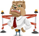 Bulldog Businessman Cartoon Vector Character AKA Bruce Bulldogge - Under Construction 2