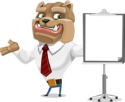 Bulldog Businessman Cartoon Vector Character AKA Bruce Bulldogge - Presentation 1