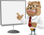 Bulldog Businessman Cartoon Vector Character AKA Bruce Bulldogge - Presentation 2