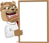 Bulldog Businessman Cartoon Vector Character AKA Bruce Bulldogge - Presentation 4