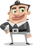 Chubby Businessman Cartoon Vector Character AKA Hank - Normal