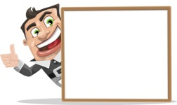Chubby Businessman Cartoon Vector Character AKA Hank - Presentation 5