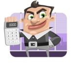 Chubby Businessman Cartoon Vector Character AKA Hank - shape2