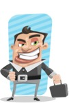 Chubby Businessman Cartoon Vector Character AKA Hank - shape5