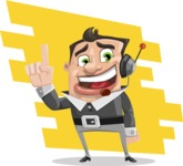 Chubby Businessman Cartoon Vector Character AKA Hank - shape9