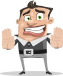 Chubby Businessman Cartoon Vector Character AKA Hank - Stop 2