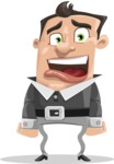 Chubby Businessman Cartoon Vector Character AKA Hank - Stunned